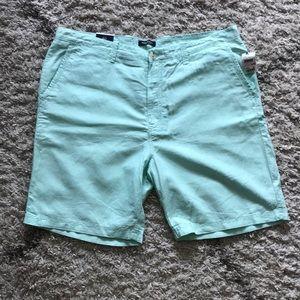 NWT Men's Nautica linen short in teal